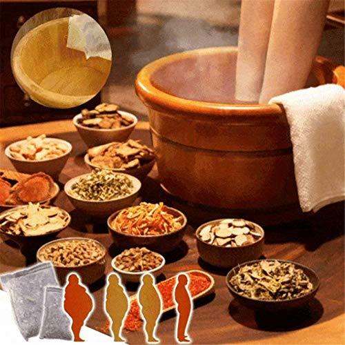 Foot Bath Powder Chinese Herbs, Herbal Detox Foot Soak Pack, Foot Reflexology Chinese Medicine Foot Bath Powder Kits Cold Blood, Relaxing Foot Spa, Foot Bath Herb Bag (10pcs/Pack)