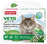 Beaphar - VETOpure, pipettes répulsives antiparasitaires - chat...