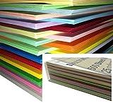 250 feuilles Papier Cartonné / Carte / Carton A4 160gm de couleur - Assortiment...