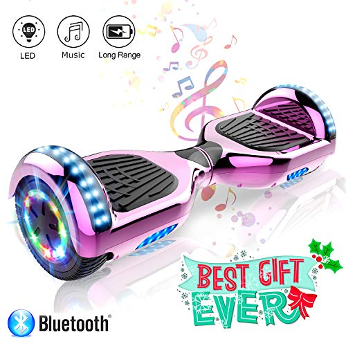 COLORWAY 6,5 Zoll Elektro Skateboard Elektro Scooter Smart Scooter Self Balance Board - Bluetooth - LED Räder - 350W*2 Motor