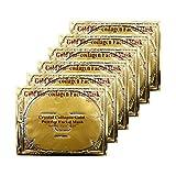 Adofect 6 Pieces 24K Gold Gel Collagen Facial Masks Hydrating Gold...