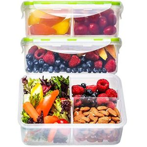 FAST FREE DELIVERY! Bento Box Lunch Containers (3 Pack, 39 Ounces) - Bento Boxes for Adults, Lunch Boxes for Kids, 3 Compartment Food Containers with Lids, Bento Lunch Box, BPA FREE, Leakproof