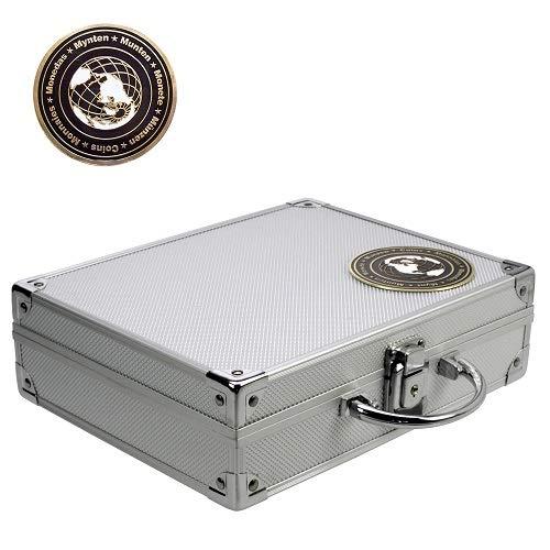 SAFE 176 Valigia porta monete collezione in alluminio | con 6 vassoi per 166 monete da 19-41 mm | Per monete commemorative, monete euro da collezione