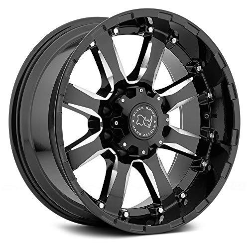 Black Rhino Sierra 20' Inch 6x139.70 4 Wheels Rims 20x9 +12mm Gloss Black