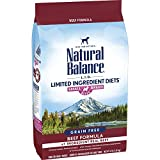 Natural Balance L.I.D. Limited Ingredient Diets Small Breed Bites Dry Dog Food, Beef Formula, 4 Pounds
