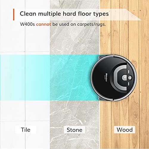 ILIFE Shinebot W400s, Mopping Robot, Wet Scrubbing, Floor Washing Robot, XL Water Tank, Zig-Zag Path, Ideal for Hard Floor 16