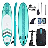 Inflatable Paddle Board, SUP Stand Up Paddle Board, 10'6x32 x6, with All Accessories-Aluminum Paddle/Pump/SUP Leash/Backpack/Fin/Waterproof Phone Case