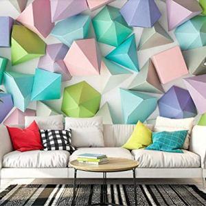 Avikalp Exclusive AWZ0253 3D Wallpaper Three Dimensional Wall Paper Scandinavian Minimalist Stereo Geometric Pattern TV Backdrop 3D HD 3D Wallpaper(548cm x 304cm)