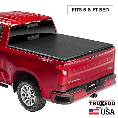 TruXedo TruXport Soft Roll Up Truck Bed Tonneau Cover | 272401 | fits 2019 - 2020 New Body Style GMC Sierra & Chevrolet Silverado 1500 (Will not fit Carbon Pro Bed) 5'8' bed
