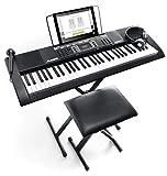 Alesis Melody 61 MKII - Clavier Électronique Portable 61 Touches avec des Enceintes Intégrées, Casque, Micro, Stand de Piano, Pupitre et Tabouret