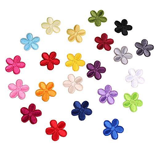 23 toppe termoadesive per bambini, con motivo floreale a forma di sole, da applicare con ferro da stiro o da cucire, fai da te