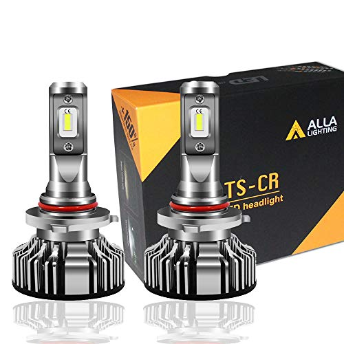 Alla Lighting 10000lm HB3 9005 Headlight Bulbs Extreme Super Bright 6K Xenon White TS-CR Replacement of Halogen High Beam, Low Beam Kits Headlamps