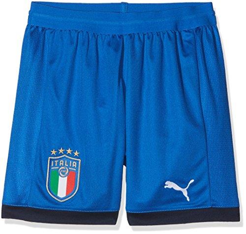 Puma Pantaloncino Gara da Bimbo Bianco-Blu 18/20 Italia 10 y Bianco-Blu