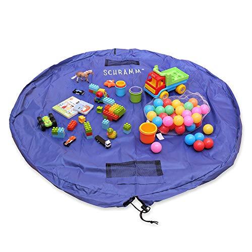 Schramm® Aufräumsack Kinder Spielmatte Spielzeugaufbewahrung Spieldecke Beutel mit Tunnelzug Spielzeugtasche Spielzeugsack Spielsack