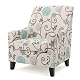 Christopher Knight Home Irena Ivory and Blue Floral Fabric Club Chair