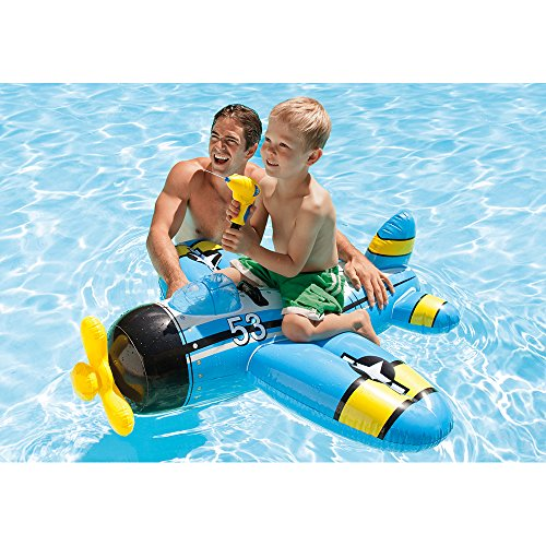 Intex Water Gun Plane Ride-On, 52' x 51', for Ages 3+, 1 Pack (Colors May Vary)