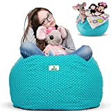 Kroco Stuffed Animal Storage Bean Bag Chair for Kids Room | Stuff n sit Toy Storage Bag | Beanbag Cover for Girls & Boys | Stuff Toys Organizer Seat Holder | Toddler Chair Bag Extra Large - 38'' Teal