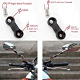 10mm X 1.25mm Pitch Right+Left Threaded Motorcycle Bike Cruisers Scooters Mirror Mount Riser Extender Adaptor Adapter Aluminum Moto M10 Accessories
