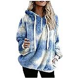 Sudadera con capucha para mujer, para otoño e invierno, de gran tamaño, de...
