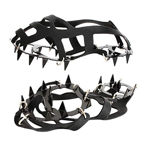 Crampons avec 18 Dents en Acier Inoxydable Manganèse Escalade Sacs...