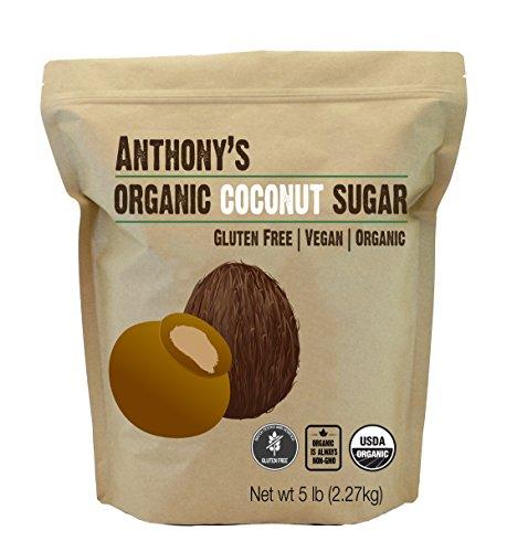 Anthonys Organic Coconut Sugar 5lbs, Non-GMO and Gluten Free