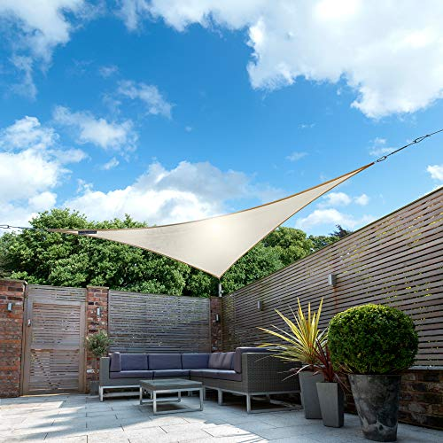 Kookaburra Sonnensegel für den Garten, wasserdicht, 98 % UV-Schutz, Elfenbeinfarben