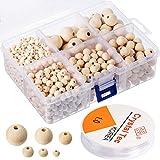 1105pièces en perles de bois naturel, Ensemble de perles en...
