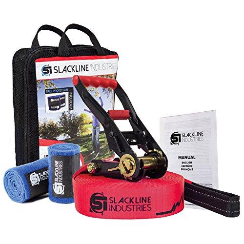 Slackline Industries Baseline Slackline Complete Kit With Tree Protection, 50FT