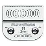 Andis 64740 UltraEdge Carbon-Infused Steel Detachable Clipper Blade, Size 00000, 1/125-Inch Cut Length