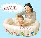 Tiny Tots Baignoire gonflable de transport pour bébé Crème
