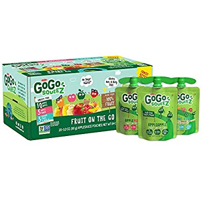 Applesauce on the Go made from 100% fruit & vanilla in portable, BPA-free, squeezable pouches Unsweetened applesauce pouches made from 100% fruit, kosher certified, non-GMO project verified, gluten free, nut free, dairy free, no added colors, flavors...
