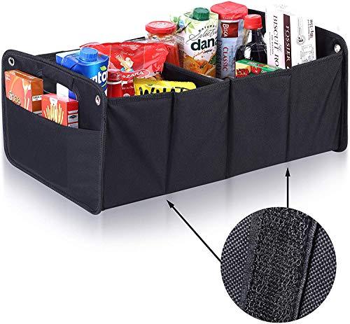 Upgrade4cars Kofferraum Organizer mit Klett | Auto Kofferraumtasche für Einkauf, Ordnung, Transport, Utensilien, Aufbewahrung | Universal Falt-Box Klein & Stabil | Auto-Zubehör Gadget