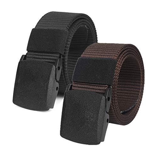 Chalier Schwarz & Braun Cinturón, Negro y marrón, Talla única Unisex Adulto