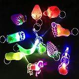 ZCOINS 12 Pièces Mini LED Lampes de Poche Keyring Kits de fêtes, Idéal pour...