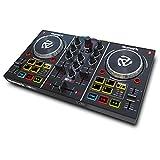 Numark Party Mix - Controlador de DJ plug-and-play de 2 canales para Serato DJ Lite con interfaz de audio incorporada, controles de pad, crossfader, jogwheels y pantalla