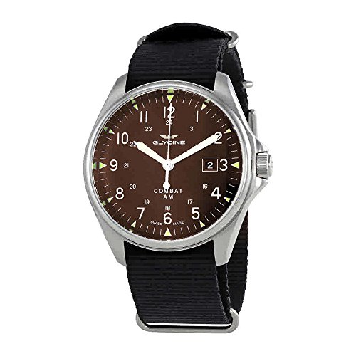 Glycine Combat 6 Vintage Automatic Brown Dial Mens Watch GL0123