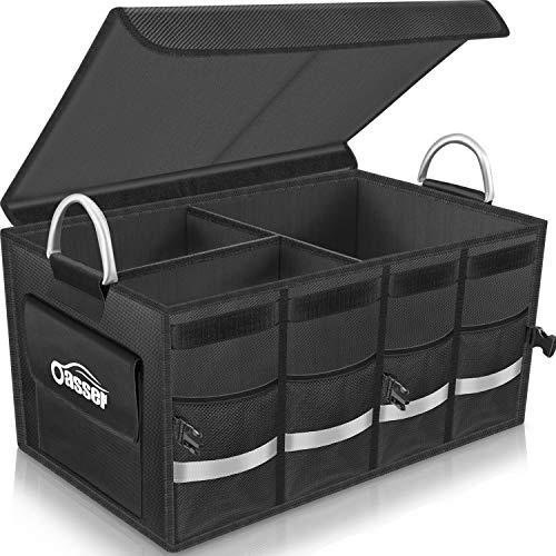 Oasser Kofferraumtasche Kofferraum-Organizer mit Deckel Auto Kofferraum Organizer Autotasche Auto Kofferraum Box Praktisch und Wasserdicht Verpackung MEHRWEG