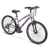 Huffy Hardtail Mountain Trail Bike 24 inch, 26 inch, 27.5 inch, 24 Inch Wheels/15 Inch Frame, Gloss Lavender