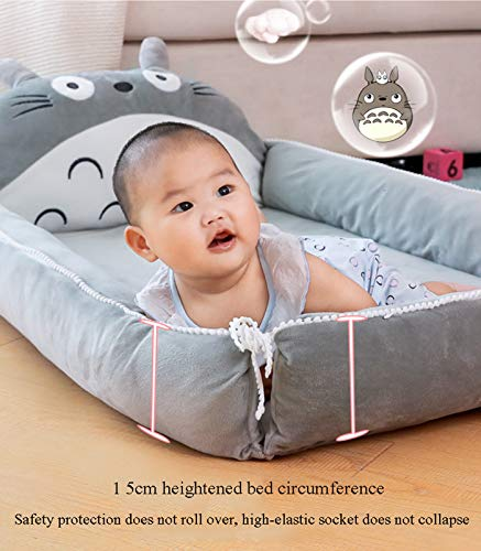 Product Image 3: VIVITG Cartoon Totoro Baby Bed Stuffed Sofa Infant Chair Plush Cute Anime Sofa Bed, for Kids Baby Play Mat Floor Mat, 906035cm