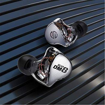 BGVP DM8 Balanced Armature in Ear Monitiors (Silver)