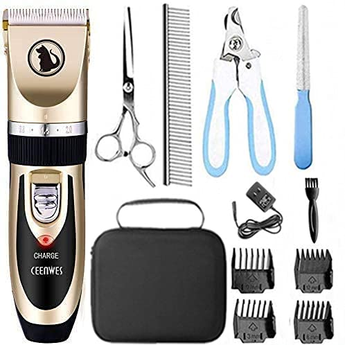 Ceenwes Dog Clippers Low Noise Pet Clippers...