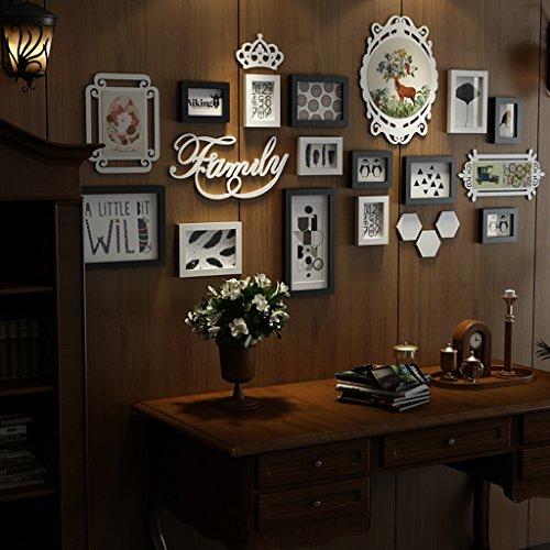 William 337 - Cornice portafoto da parete in legno, per soggiorno, divano e TV, A