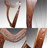 Harpe celtique à 27 cordes - Avec clés de demi-tons