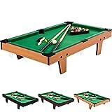 Mini Table de Billard 92x52x19cm, Couleur au Choix Bois Clair, Bois foncé...