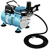 Master Airbrush 1/5 HP Cool Runner II Dual Fan Air Compressor Kit Model TC-320 - Professional Single-Piston with 2 Cooling Fans, Longer Running Time Without Overheating - Regulator Water Trap, Holder