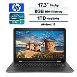 2017 HP 17.3' Business Flagship Laptop PC HD+ WLED-backlit Display Intel i3-7100U Processor 8GB DDR4 RAM 1TB HDD Intel 520 Graphics DVD-RW 802.11AC Wifi Webcam HDMI Windows 10-Silver