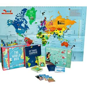 World Geography with Activity Box for Kids | Learn World Map with games for kids