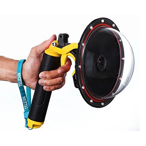 Telesin Dome Port Diving lenti trasparenti per SJ6SJ7con custodia impermeabile, impugnatura a mano galleggiante, pistola per fotografia subacquea per SJ6Legend/SJ7Star