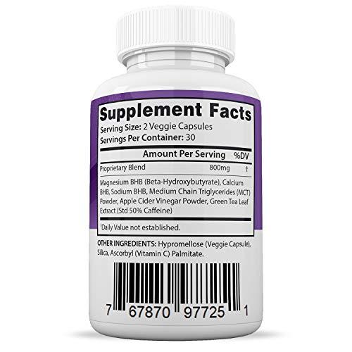 Ultra Pure Keto X Burn Pills Advanced BHB Ketogenic Supplement Exogenous Ketones Ketosis for Men Women 60 Capsules 2 Bottles 2