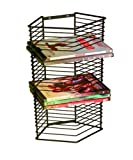 Atlantic Onyx 28 Wire DVD-Tower - Holds 28 DVDs/Blu-Rays or PS3 Games, Wall Mount or Freestanding in Black Steel, PN 1331